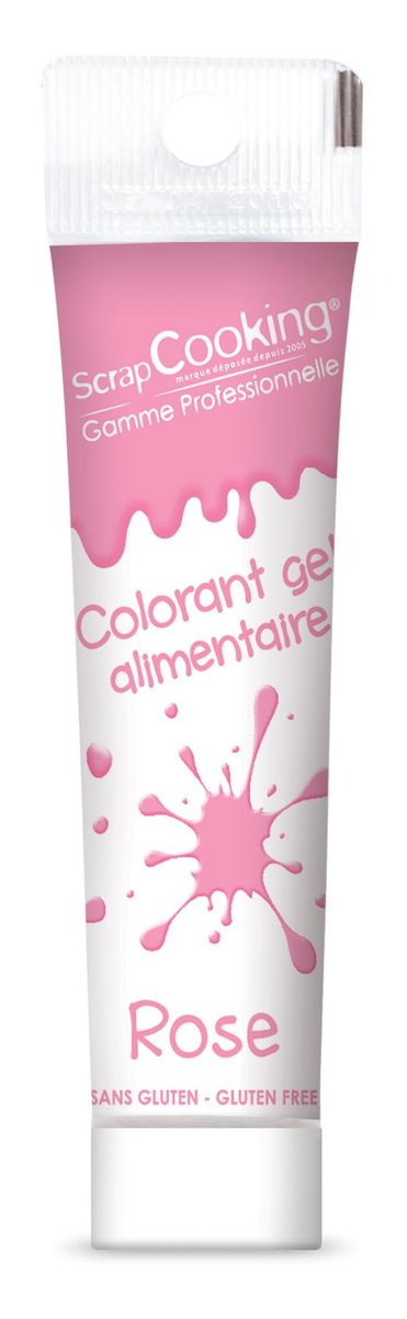 Colorant alimentaire gel rose 20 gr - Scrapcooking