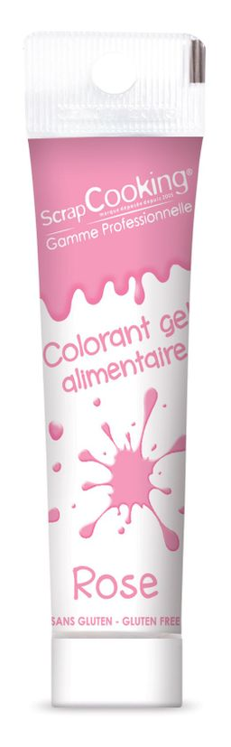 Colorant gel alimentaire rose - Scrapcooking