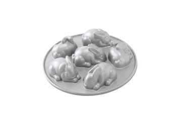 Moule 6 lapins en fonte d´aluminium - Nordicware