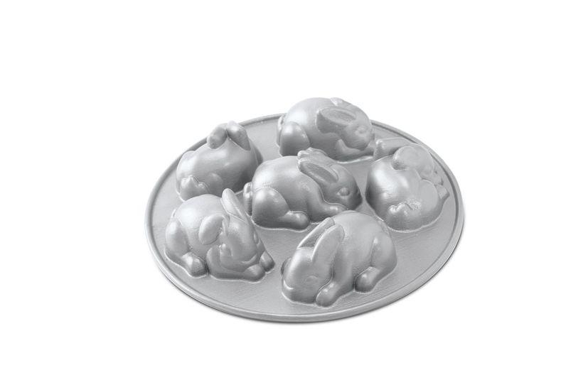 Moule 6 lapins en fonte d´aluminium - Nordic Ware