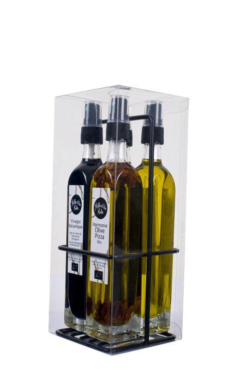 Etui 4 Sprays huile et vinaigre - Mille et une Huiles