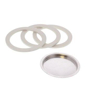 Achat en ligne Pièce de rechange : 3 joints + 1 filtre - Moka 3 tasses - Bialetti
