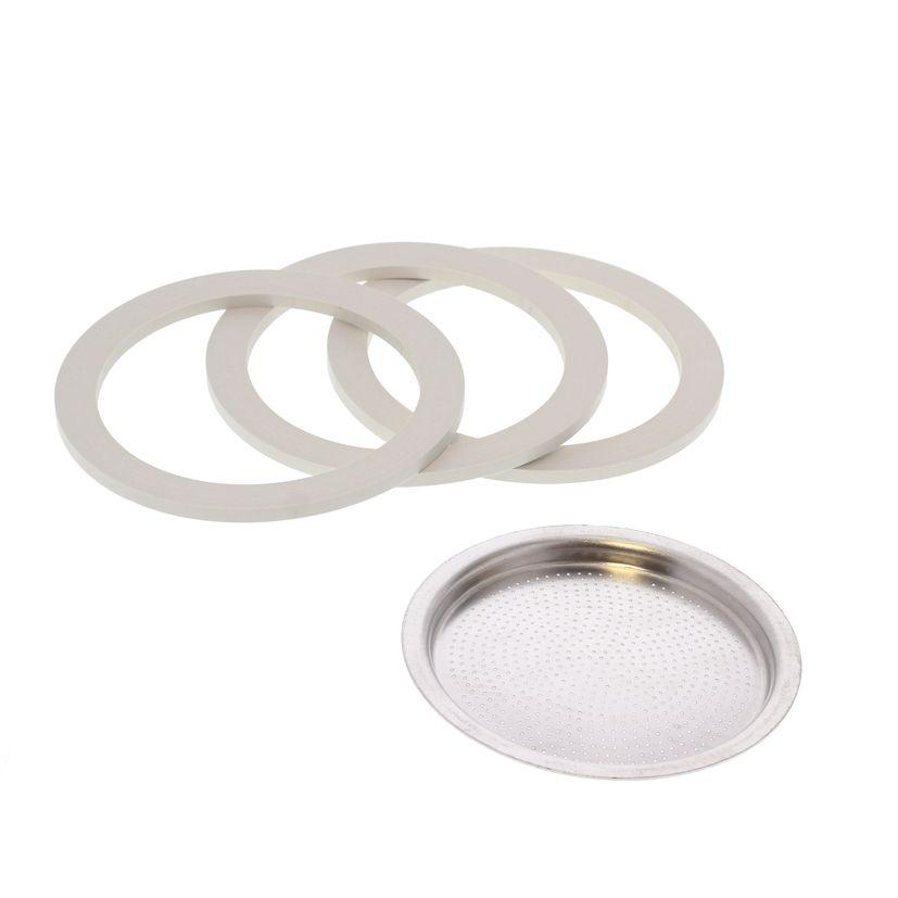 Pièce de rechange : 3 joints + 1 filtre - Moka 3 tasses - Bialetti