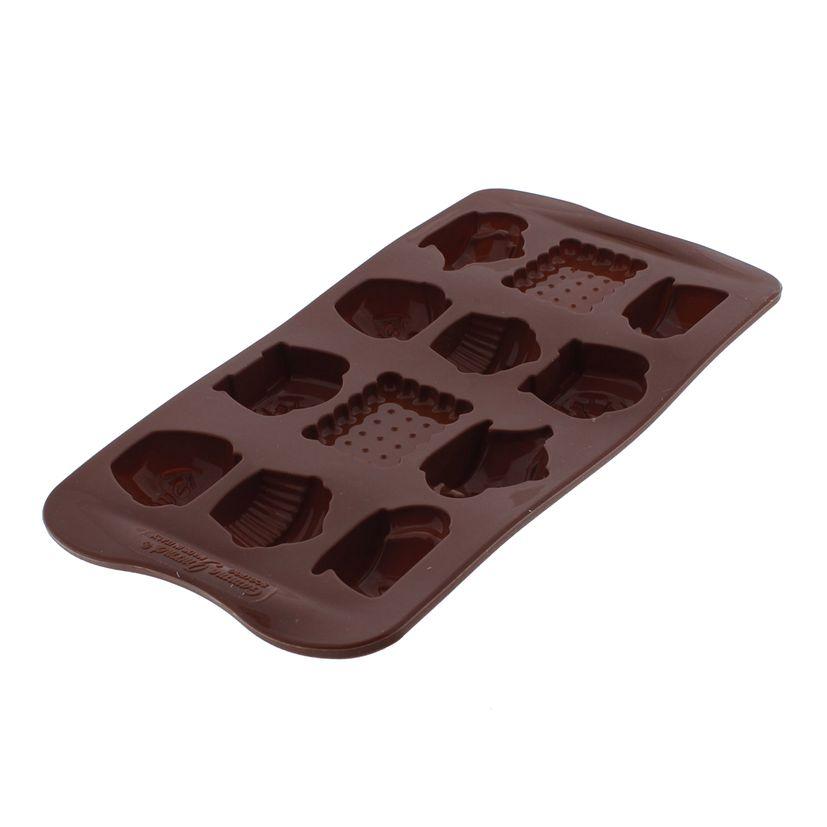 Moule à chocolats en silicone Tea Time - Silikomart