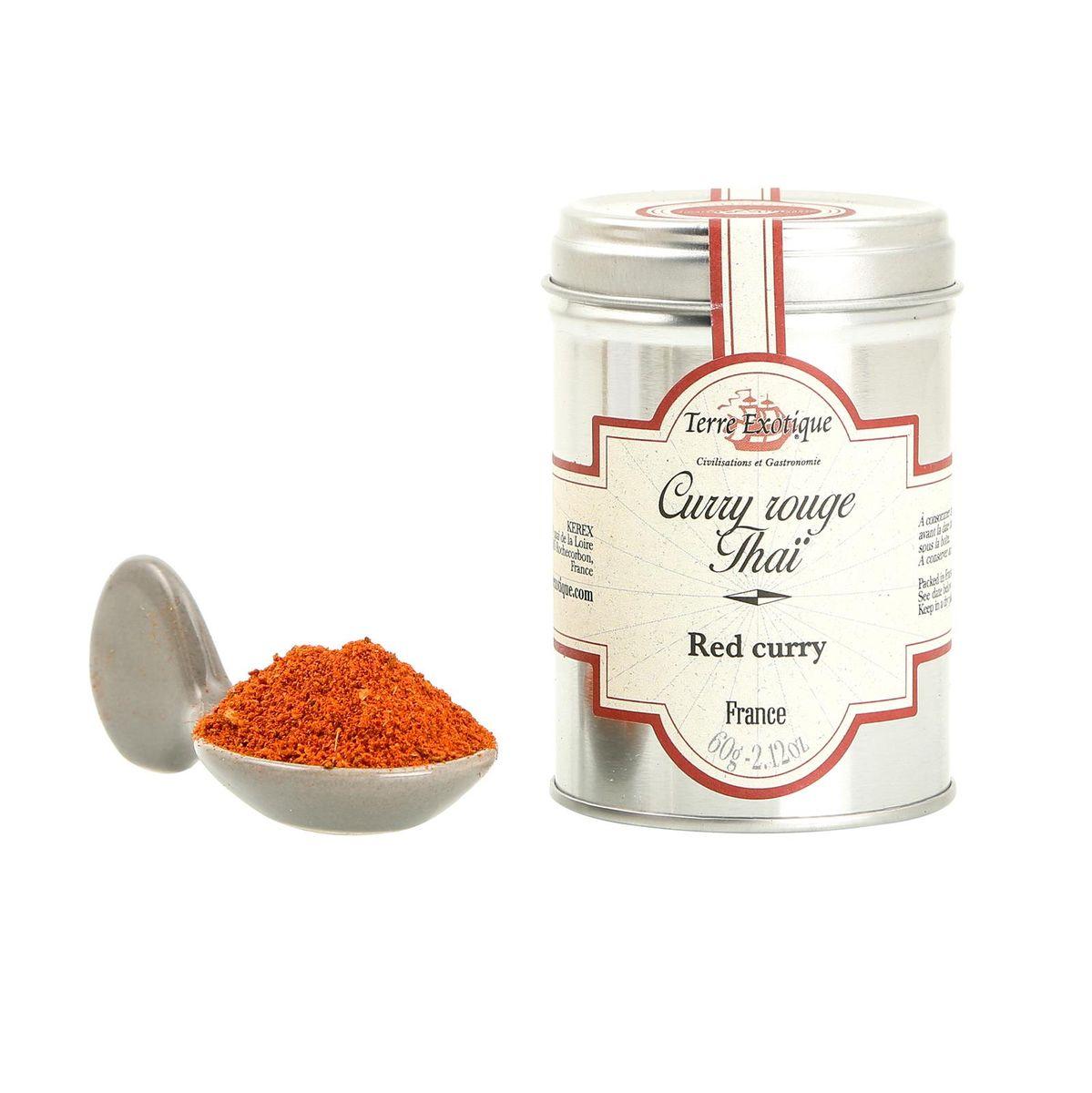 Curry rouge thaï 60gr - Terre Exotique