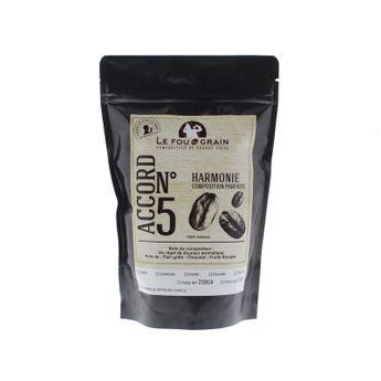 Achat en ligne Café en grains 250gr Harmonie Accord n°5 - Le Fou du Grain