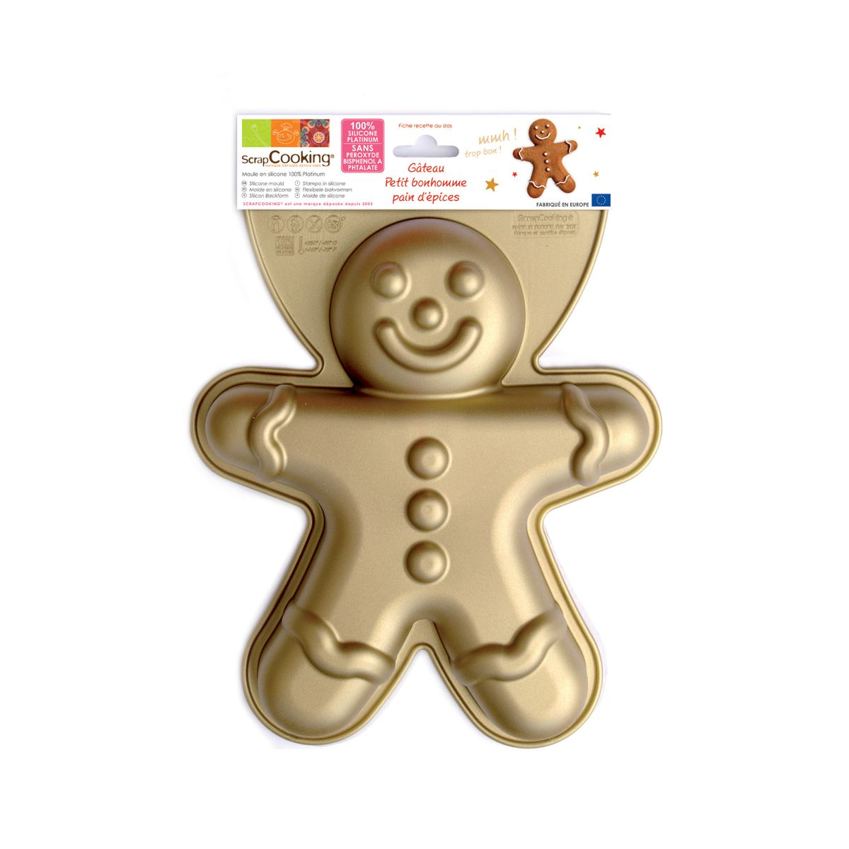 Moule en silicone bonhomme pain d´épices Noël 27,5 cm - Scrapcooking