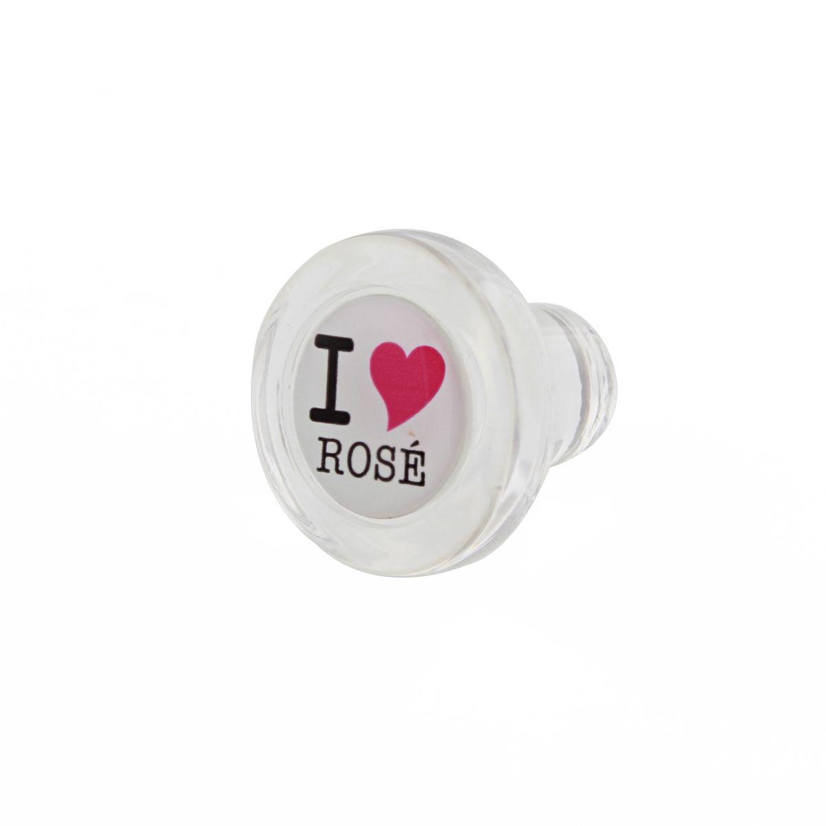 Bouchon en verre - Blanc -  I Love Rose - Cevenpack