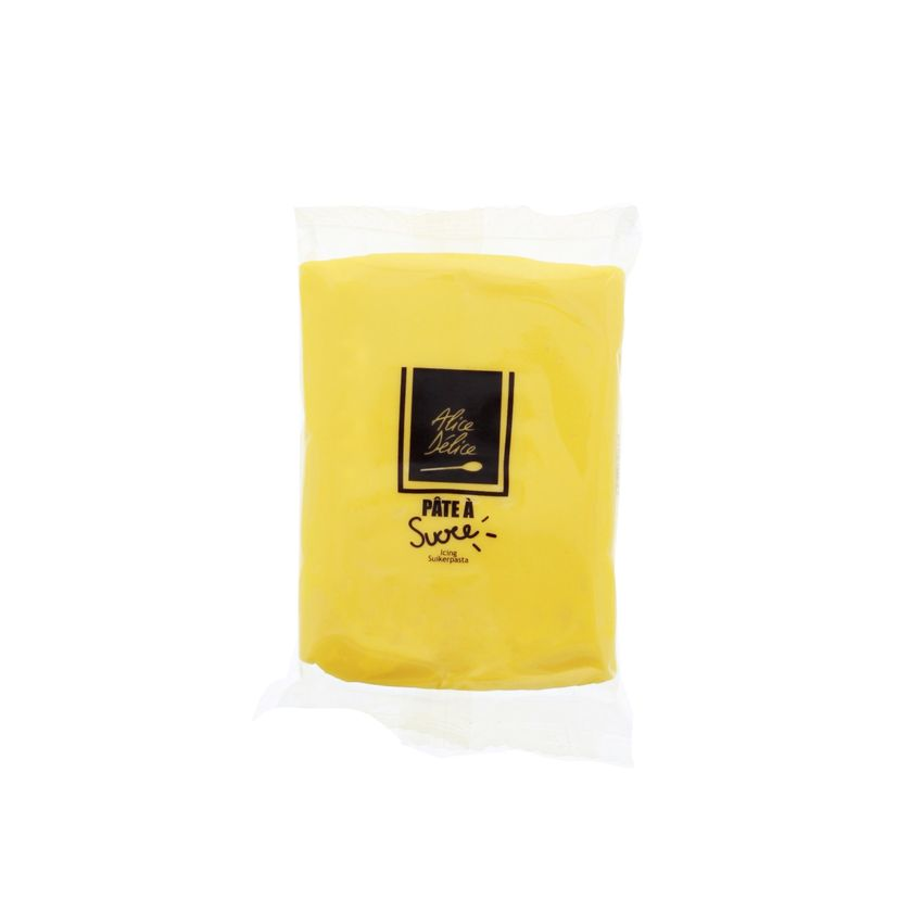Pâte à sucre jaune 250g - Alice Délice