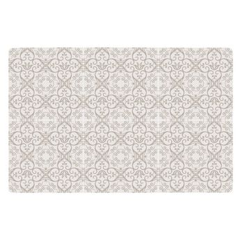 SET DE TABLE MOTIF CARREAUX DE CIMENT SABLE 44X28.5 CM - KJ COLLECTION