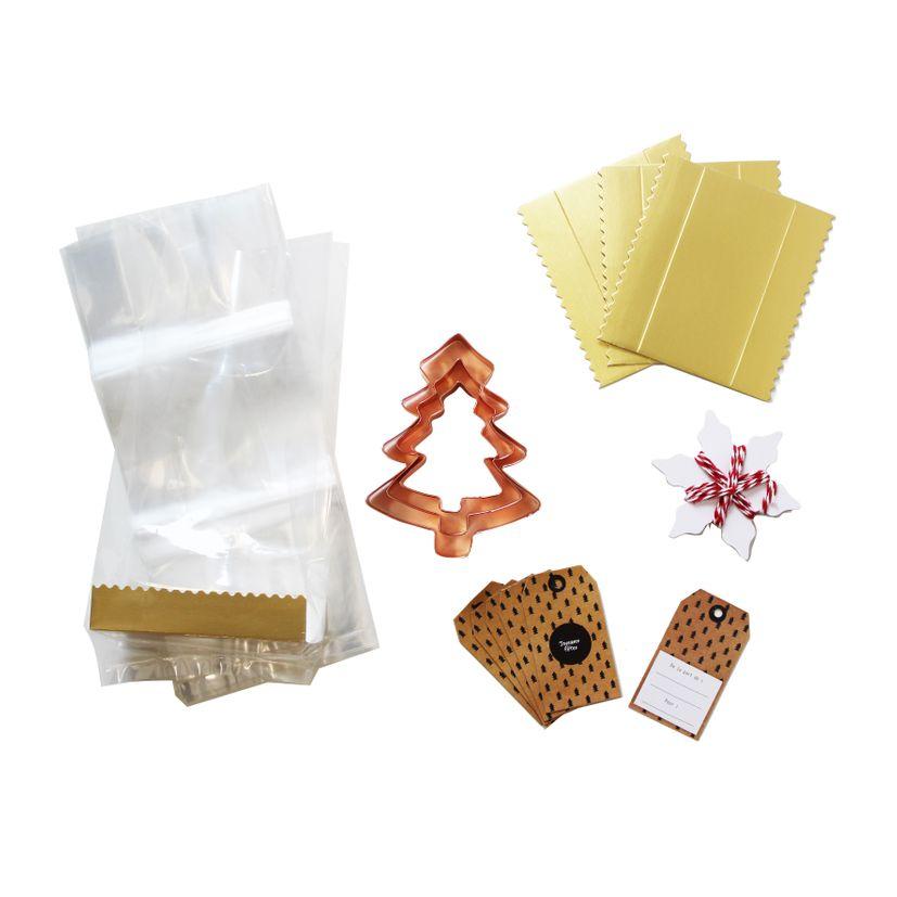 Kit 3 emporte-pièces sapin cuivre - Alice Délice