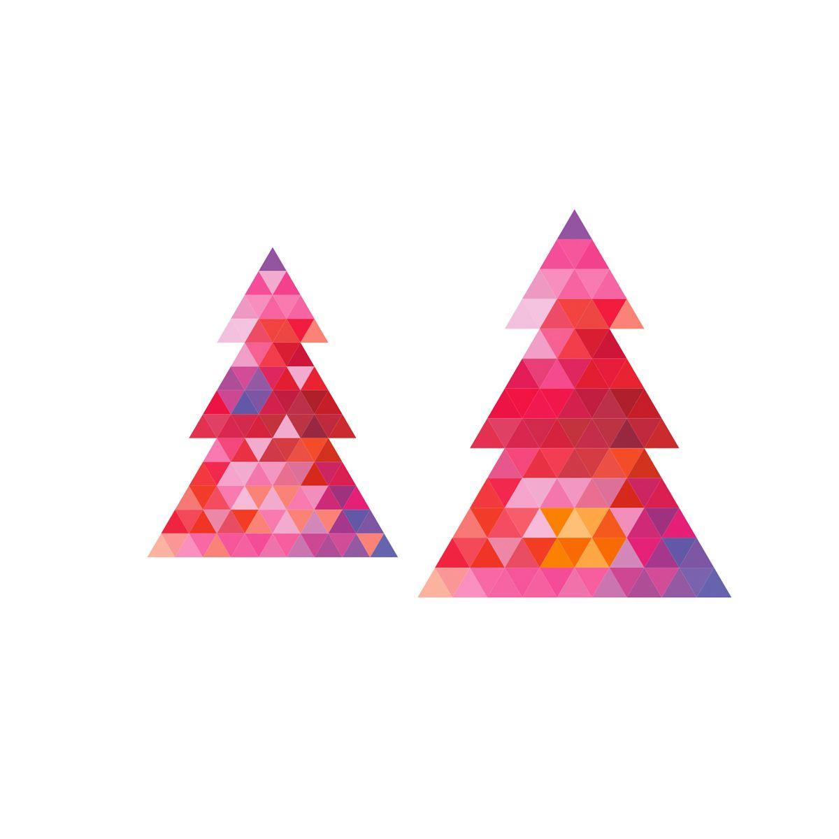 TATOUAGES D´ASSIETTE SAPIN X6 - COOKUT