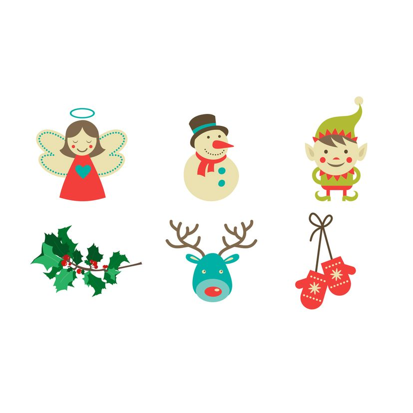 Tatouages d´assiette Noël bonhommes Noël x6 - Cookut