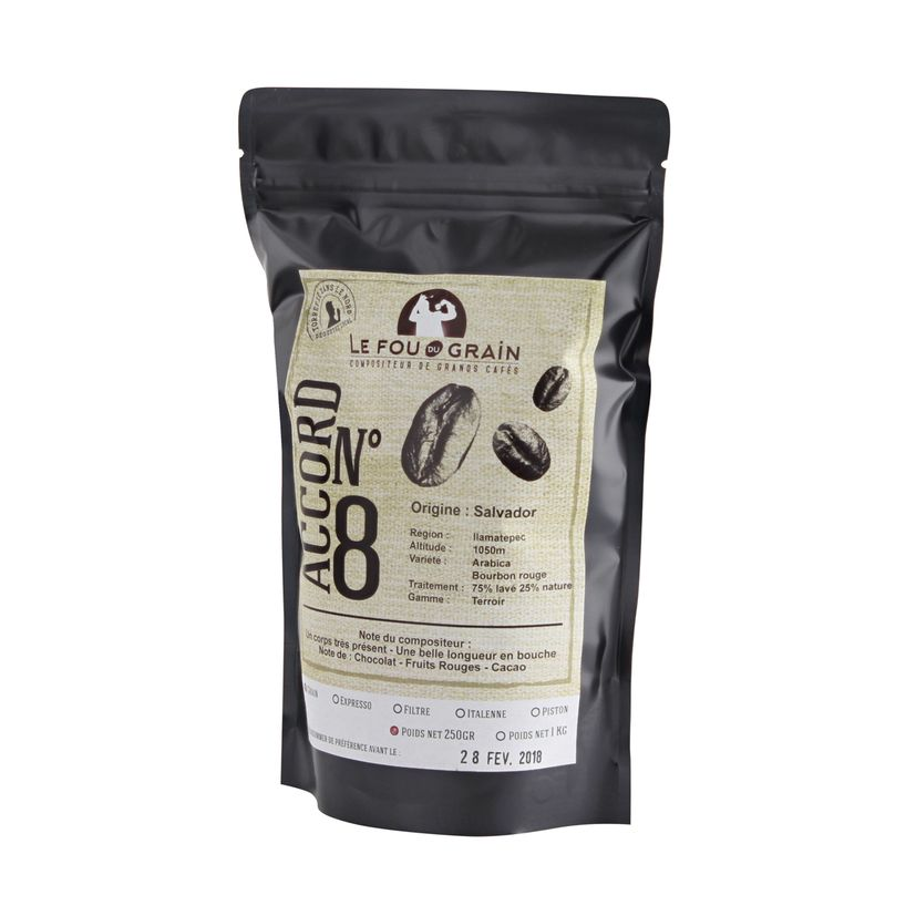 Café en grains Salvador Accord n°8 250gr - Le Fou du Grain