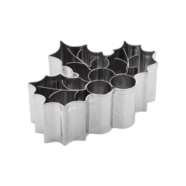 Emporte-pièce en inox houx de Noël 7.5 cm - Birkmann