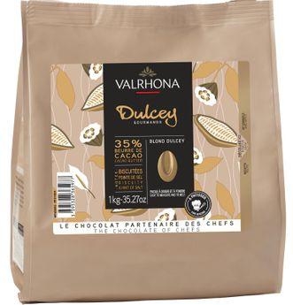 Achat en ligne Sac de fèves chocolat Dulcey 32% 1 kg - Valrhona