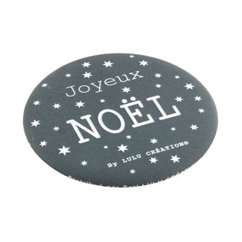 DECAPSULEUR AIMANTE JOYEUX NOEL GRIS - LULU CREATION