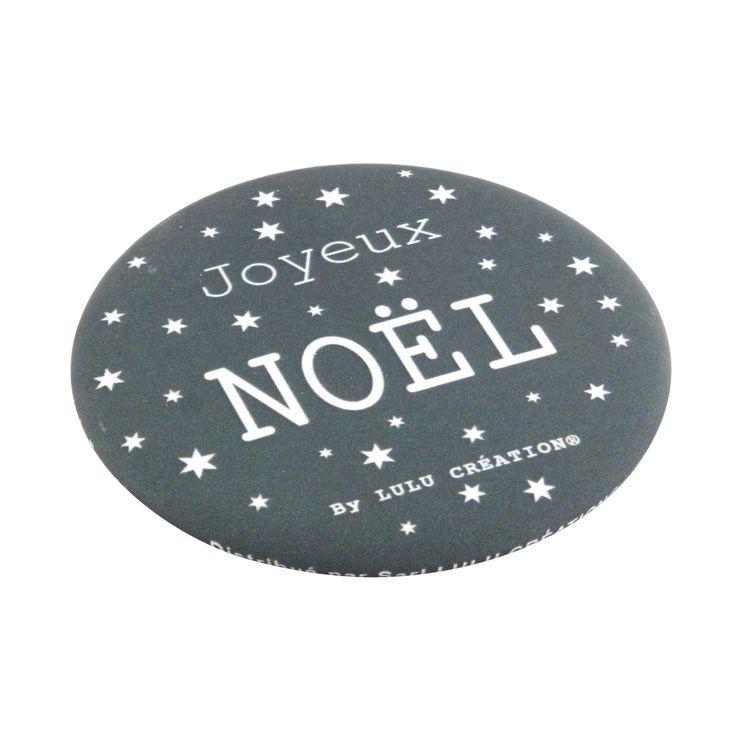 Décapsuleur aimanté Joyeux Noël gris - Lulu Création