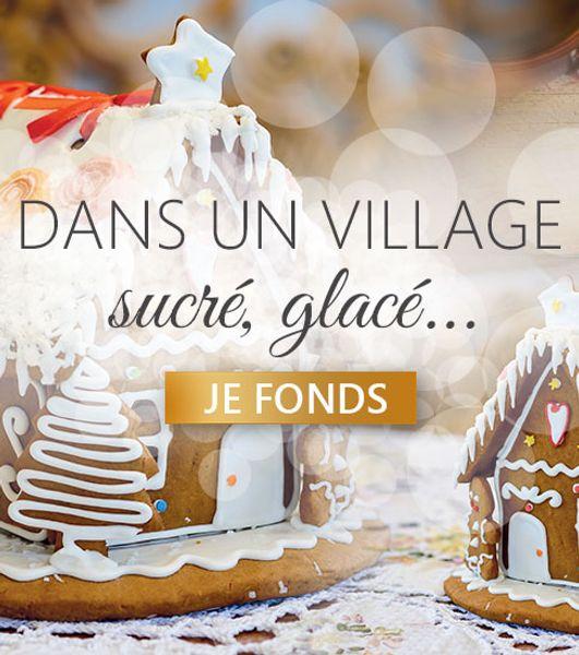Un village sucré glacé