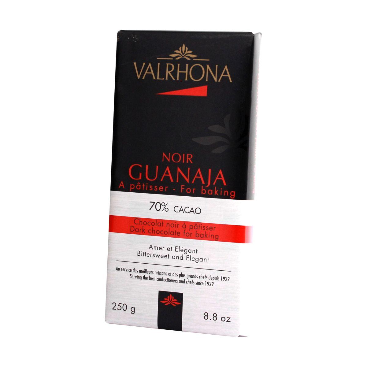 Mini-blocs chocolat à pâtisser noir Guanaja 70% 250gr - Valrhona