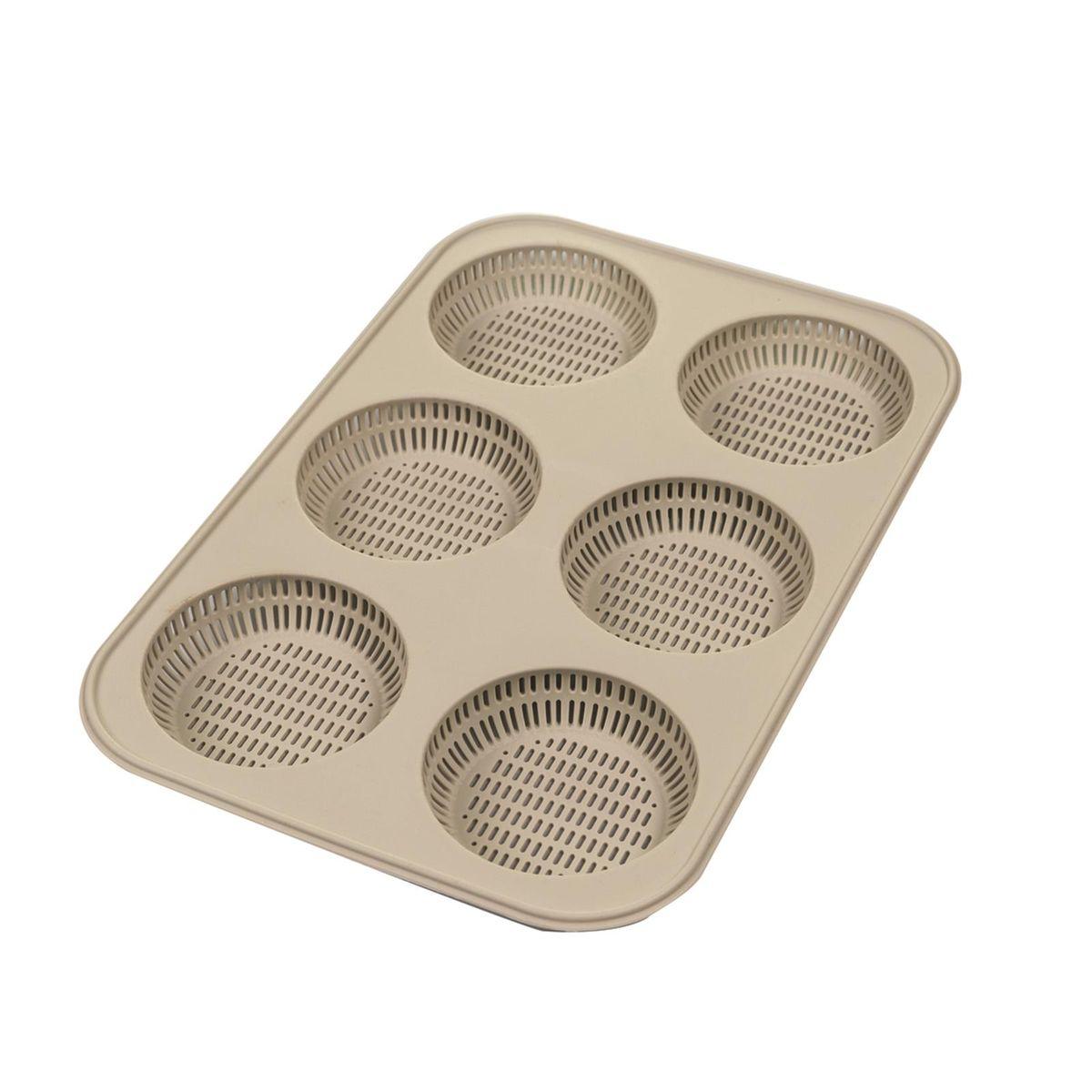 Moule mini-pains ronds burgers silicone perforé - Silikomart