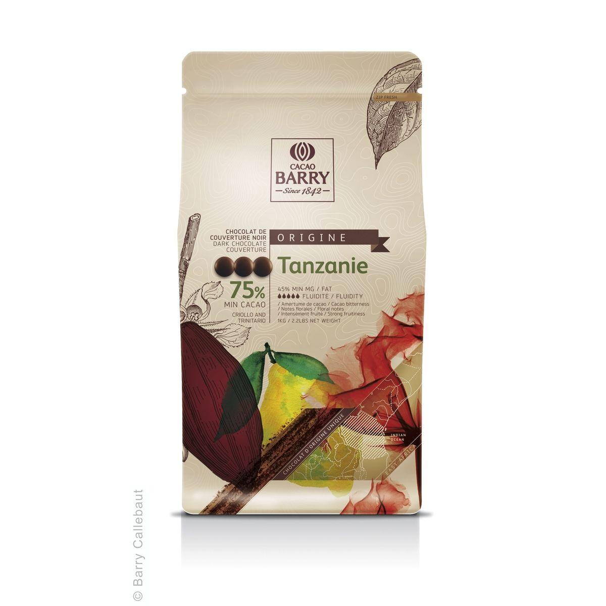 Chocolat de couverture noir Tanzanie 1kg - Barry
