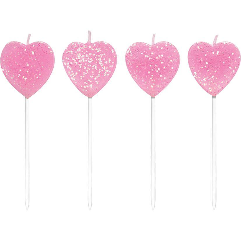 Bougies cœurs à paillettes - Anniversary House