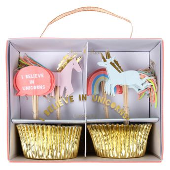 Achat en ligne Kit cupcakes I believe in unicorns - Meri Meri