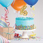 Décor de gâteau : Ballon chiffre 4 doré - Creative Converting