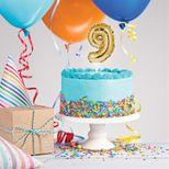 Décor de gâteau : Ballon chiffre 9 doré - Creative Converting