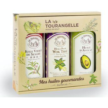 Trio coffret huiles (sésame, avocat, wok thaï) - La Tourangelle