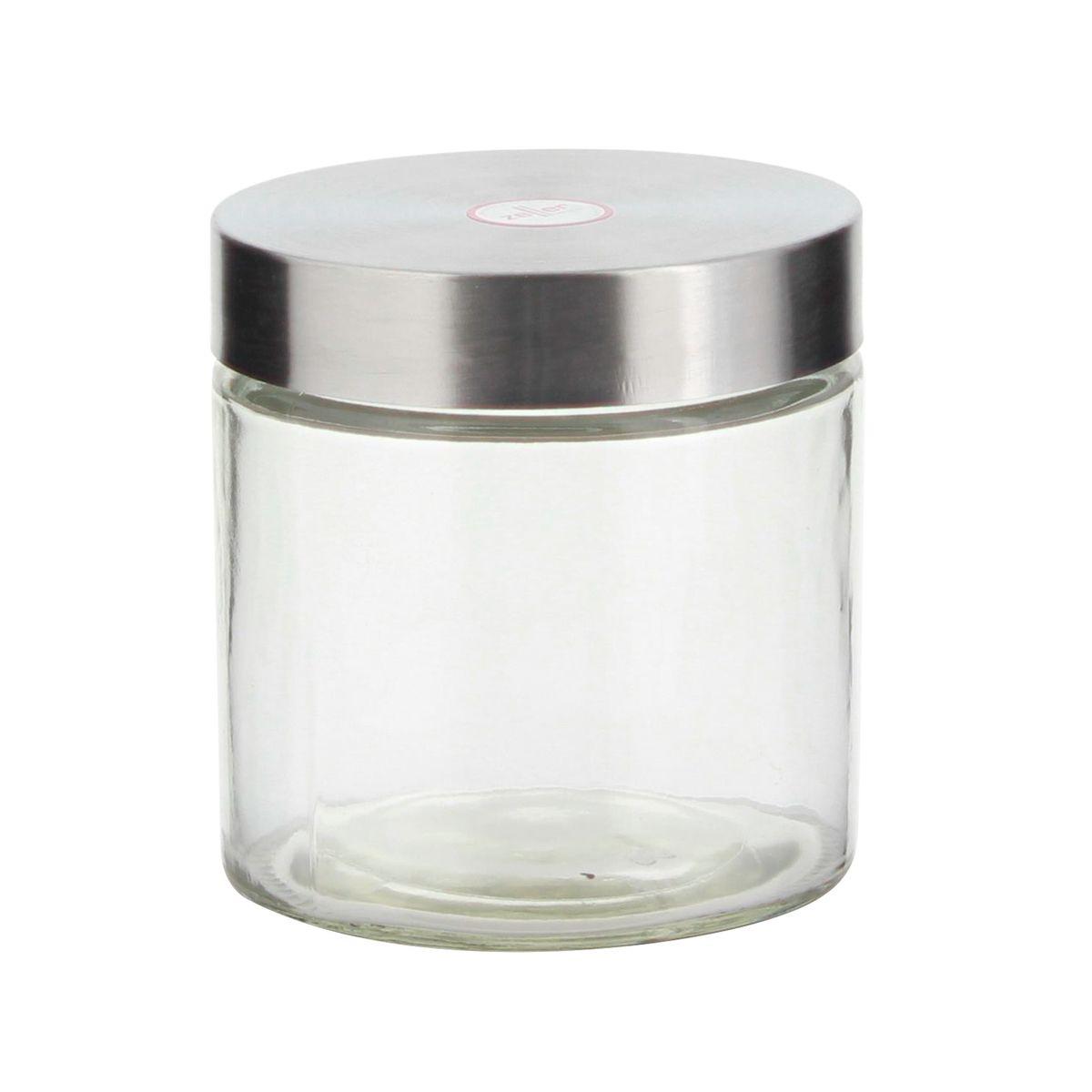 Boîte de conservation en verre avec couvercle en inox 1.1L - Zeller