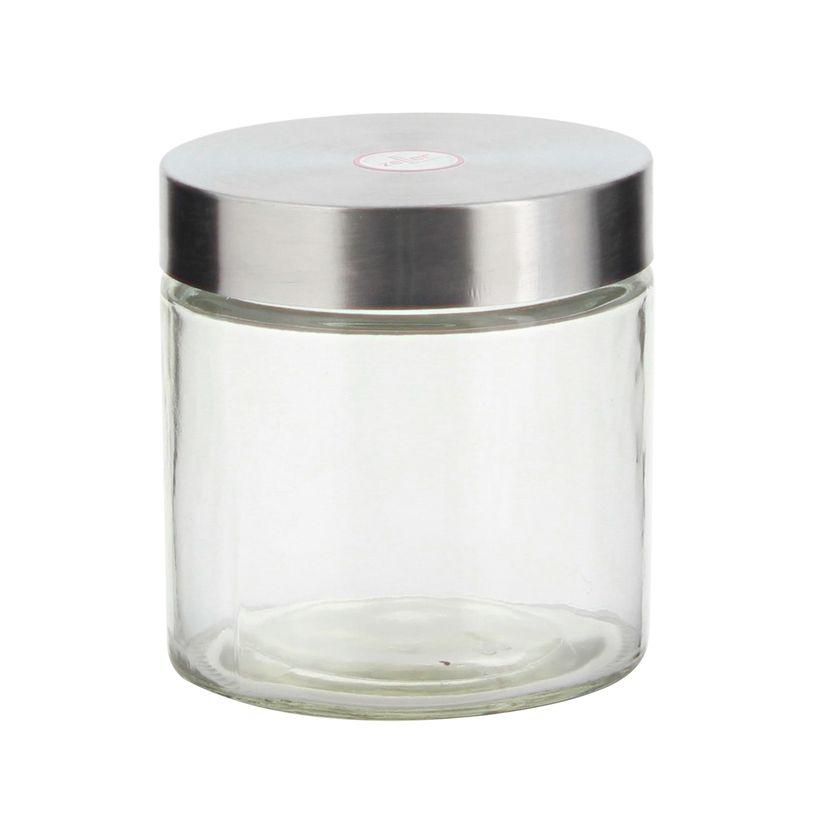 Pot rangement verre/inox 11 x 16.5 cm - Zeller