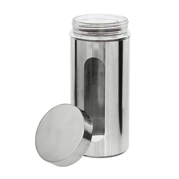 Pot hublot verre et chrome 1.2l - Zeller