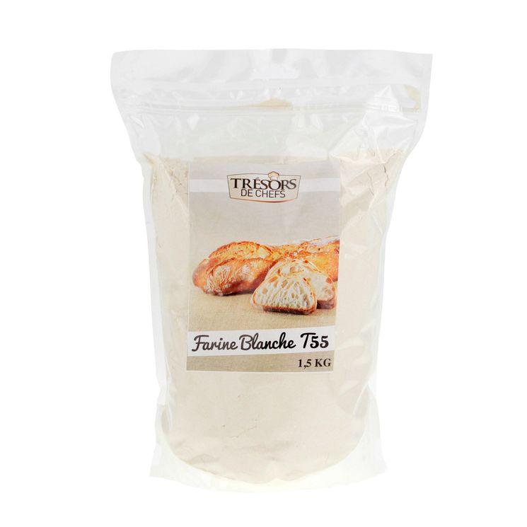 Farine de blé t55 1.5kg - Trésors de Chefs