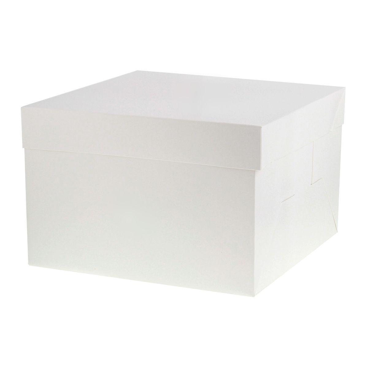 Boîte à gâteaux blanche 25.4 x 25.4 x 20 cm - Patisdecor