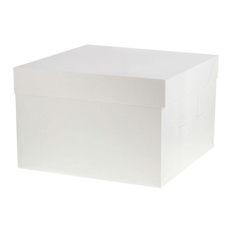 Boîte gâteau blanche 26 cm x 26 cm x 18 cm - Patisdecor
