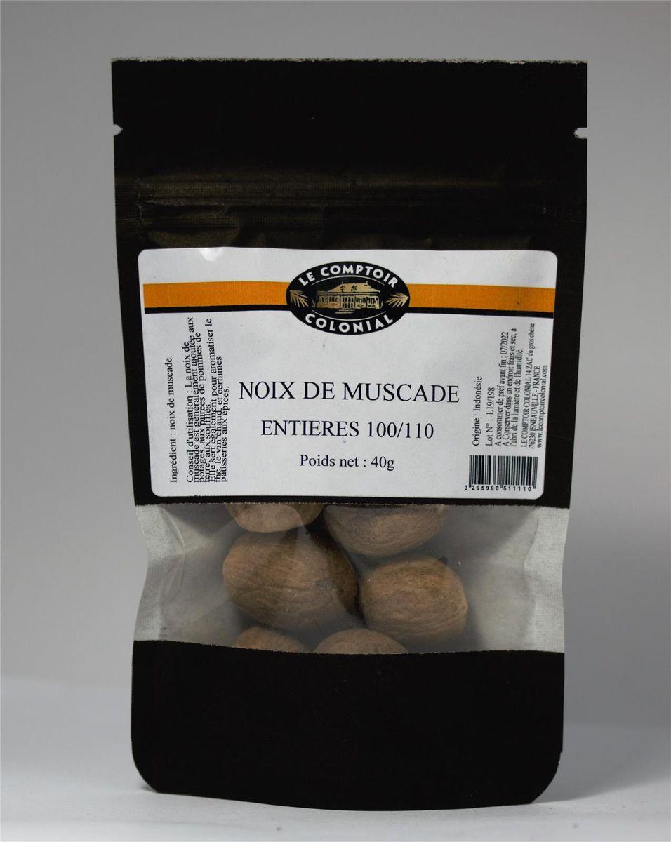 NOIX DE MUSCADE ENTIERE SACHET 40gr - MAOM