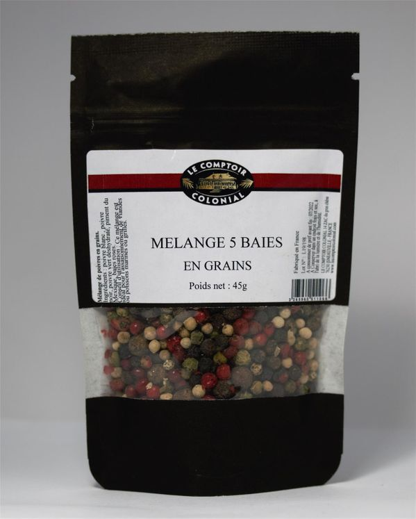 Mélanges 5 baies  45gr - Le Comptoir Colonial