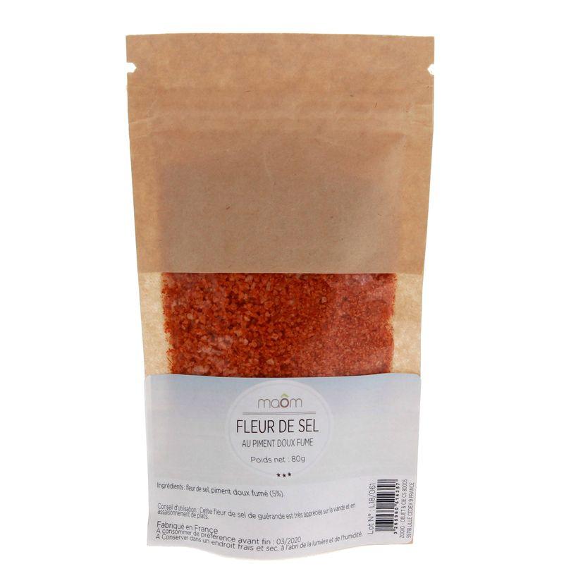 Fleur de sel au piment doux sachet 80gr - Maom