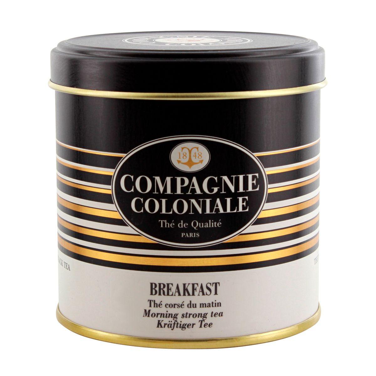 Thé noir nature boîte métal breakfast 130gr - Compagnie Coloniale