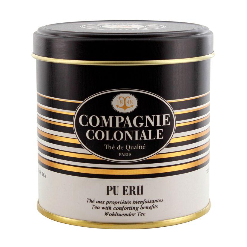 Thé noir nature Pu Erh boîte métal  - Compagnie Coloniale