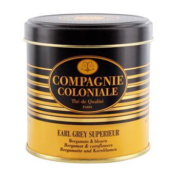 Achat en ligne Thé noir aromatisé boîte métal Earl Grey sup 120gr - Compagnie Coloniale
