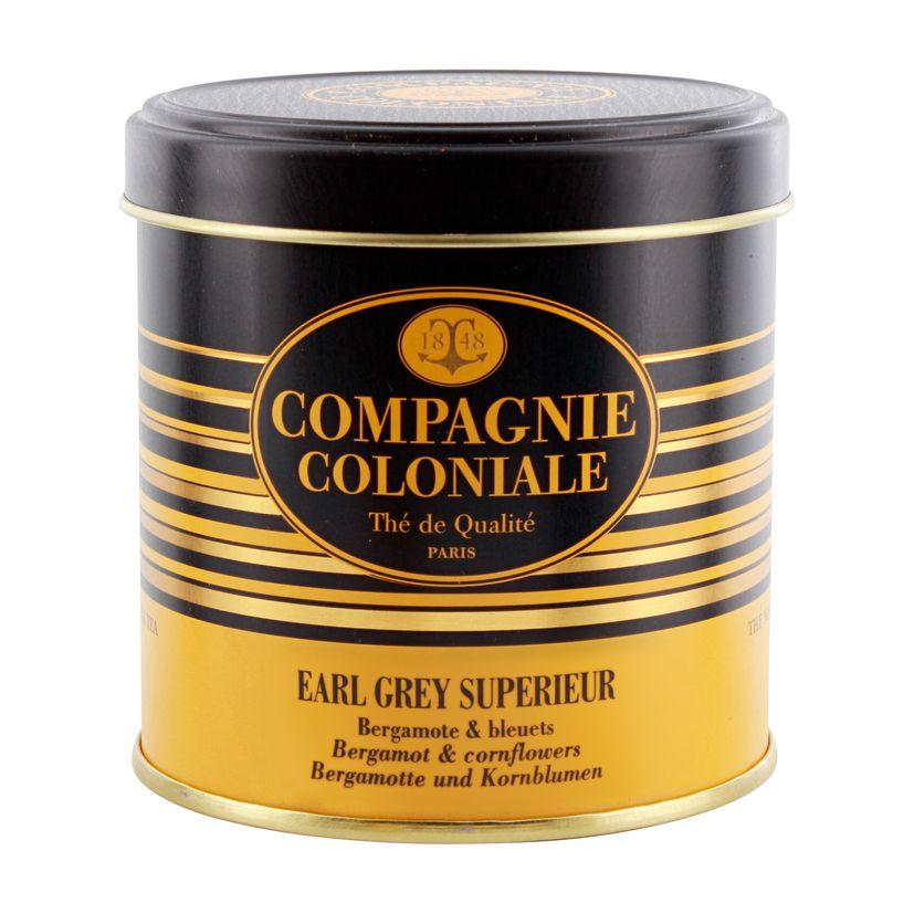 Thé noir aromatisé boîte métal Earl Grey sup 120gr - Compagnie Coloniale