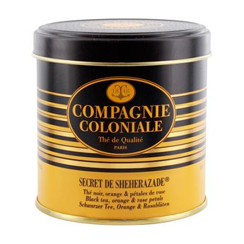 THE NOIR AROMATISE BOITE METAL SECRET DE SHEHERAZADE - COMPAGNIE COLONIALE