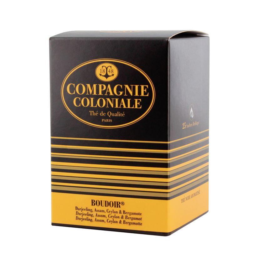 Thé noir aromatisé 25 berlingots Boudoir 50gr - Compagnie Coloniale