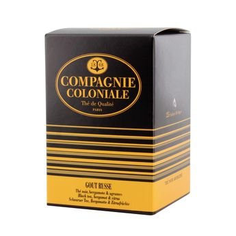 Thé noir aromatisé 25 berlingots goût russe - Compagnie Coloniale