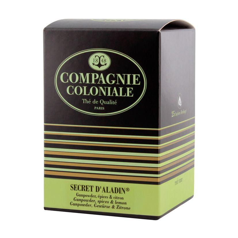 Thé vert nature et aromatisé  25 berlingots Secret d´Aladin - Compagnie Coloniale