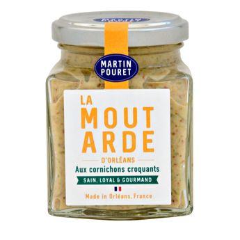 MOUTARDE D´ORLEANS AUX MORCEAUX DE CORNICHONS CROQUANTS 200G - MARTIN POURET