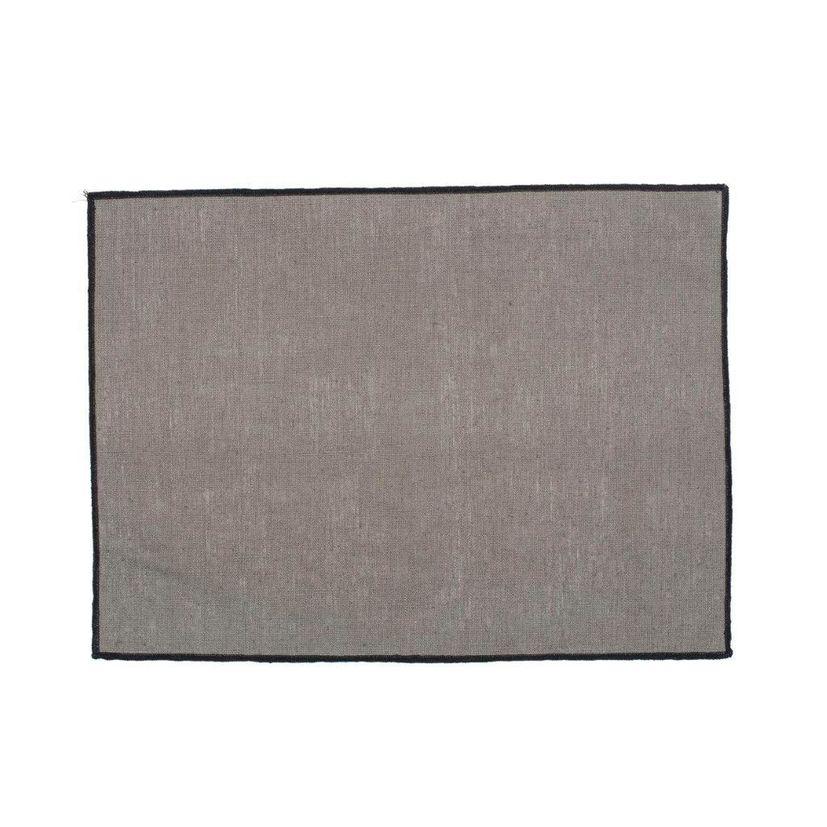 Set de table Borgo 35x48 granit  100% lin enduit - Harmony